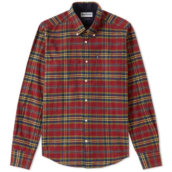 Barbour Castlebay Shirt (€81) ❤ liked on Polyvore featuring men's fashion,  men's clothing, men's shirts, men's casual shirts, mens button down collar  ...