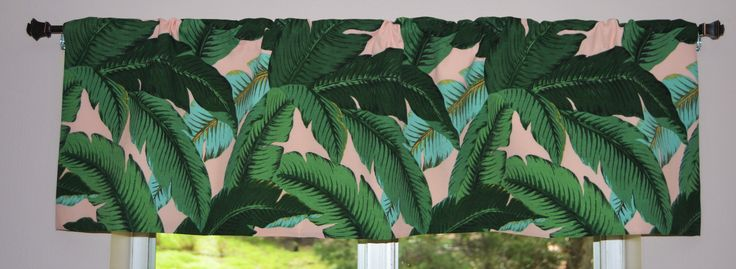 Kitchen Valance . Tropical Valance . Swaying Palms . Tommy Bahama Fabric . Indoor/Outdoor Fabric.  FULLY Lined . Handmade by SeamsOriginal on Etsy