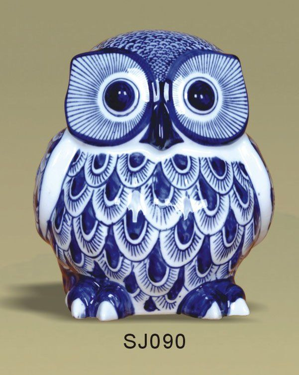 unique blue and white | Blue And White Porcelain Owl,Porcelain Animal - Buy Porcelain Owl,Blue ...