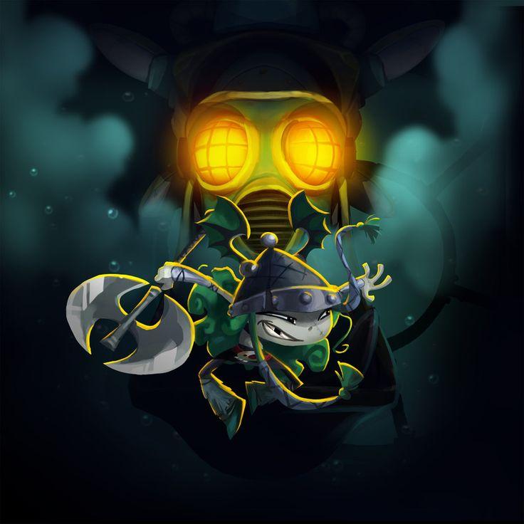 Boss Ocean Mechanic Dragon - Rayman Legends Artwork