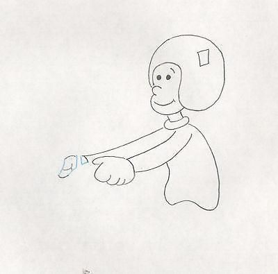 Popeye Olive Oyl Production Animation Key cel Drawing 1978-1983 Hanna-Barbera