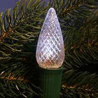 Pure White Twinkle C9 LED Christmas Light Bulbs