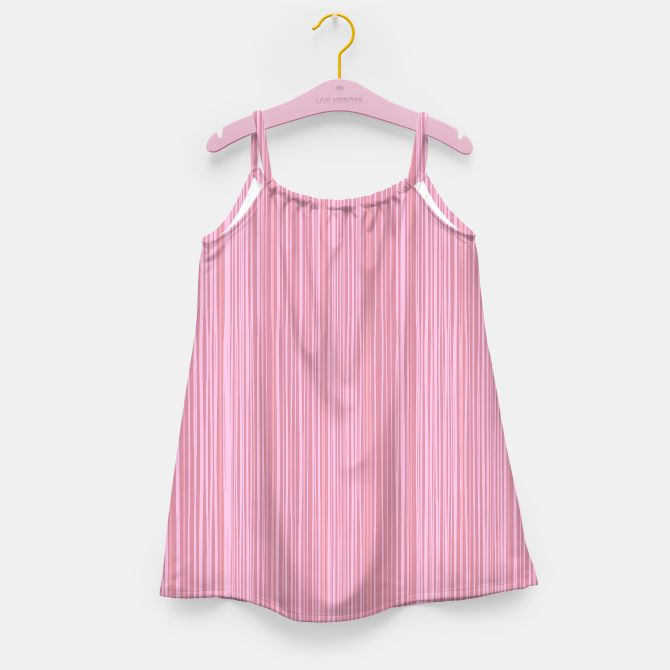 GIRLS ART DRESS WITH PINK WOOD