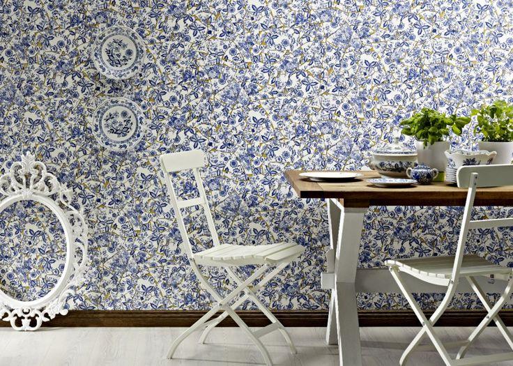 Papier peint impression carreaux ciments – Rasch - Marie Claire Maison #papierpeint #lepapierpeint