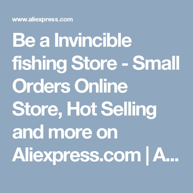 Be a Invincible fishing Store - Small Orders Online Store, Hot Selling and more on Aliexpress.com | Alibaba Group