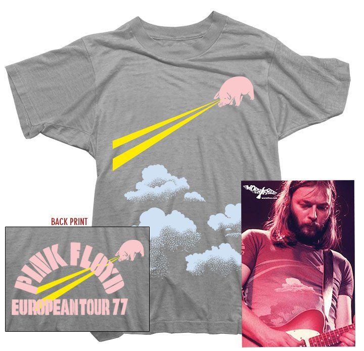 Pink Floyd T-Shirt. Tour 77 Tee worn by David Gilmour | Worn Free