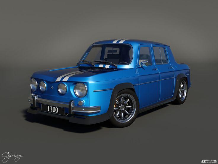 renault 8 gordini 1300 3d vintage racing cars pinterest search and 3d. Black Bedroom Furniture Sets. Home Design Ideas