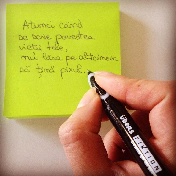 Scrie povestea vieții tale cu mâna ta!