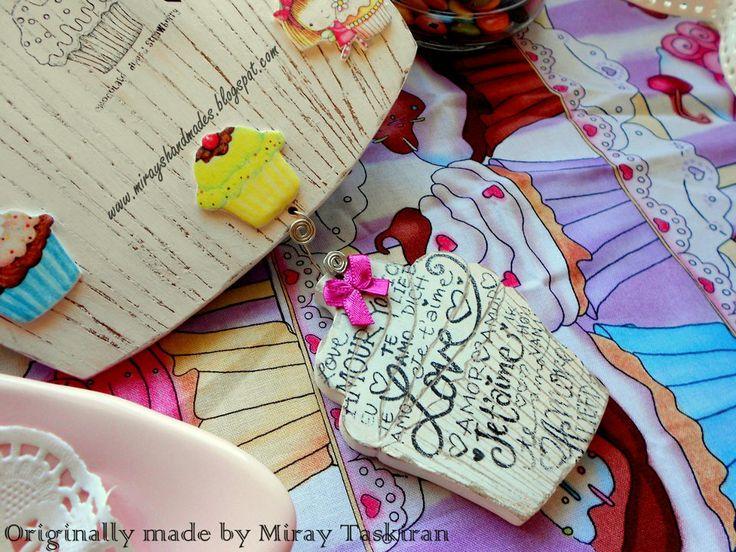 CUPCAKE WALL CLOCK (This is Originally made by Mirayshandmades - Miray Yildizli Taskiran From Turkey) mirayshandmades@gmail.com