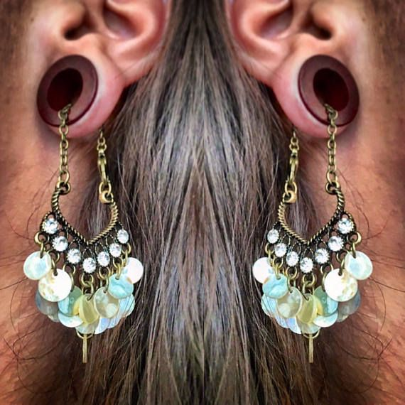 Organic Magnetic Bloodwood Tunnels W Detachable Sweetheart Shell Dangles Sizes 00g 10mm Through 38mm Eyelets Wood Str Ear Jewelry Plugs Earrings Body Jewelry
