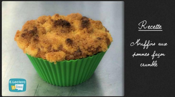 C'en cuisine – Muffins aux pommes façon crumble