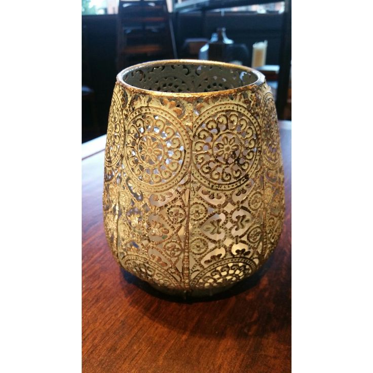 Beautiful candle holder spotted at Pitcher and Piano pub