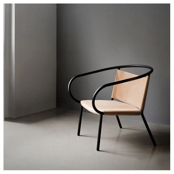 Afteroom Lounge Chair Black with Cognac Leather by Afteroom for Menu at www.vertigohome.us