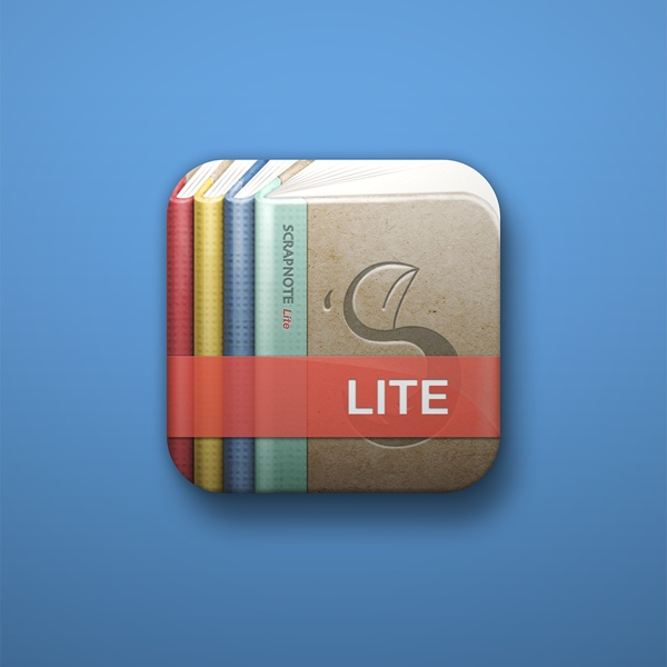 Scrapnote Lite icon design by Moonhee Jung, via Behance