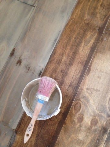 lovely plywood floors- this one actually turned out amazing!