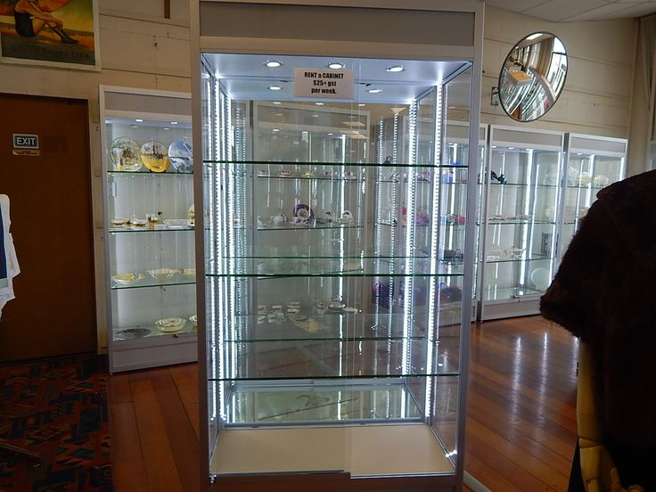 Rent a cabinet ! New LED lit display cabinets available for lease.  Please contact info@napierantiques.co.nz See our website at www.napierantiques.co.nz for details !
