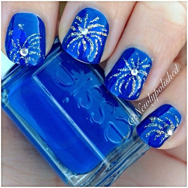 Instagram photo by newlypolished great design for new year's or better yet 4th of July #fireworks #fav