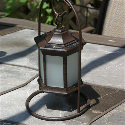 solar craftsman lantern | Starlite Garden & Patio Torche SL Solar Table Lantern