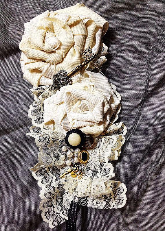 Vintage Steampunk Wedding Headband  via Etsy