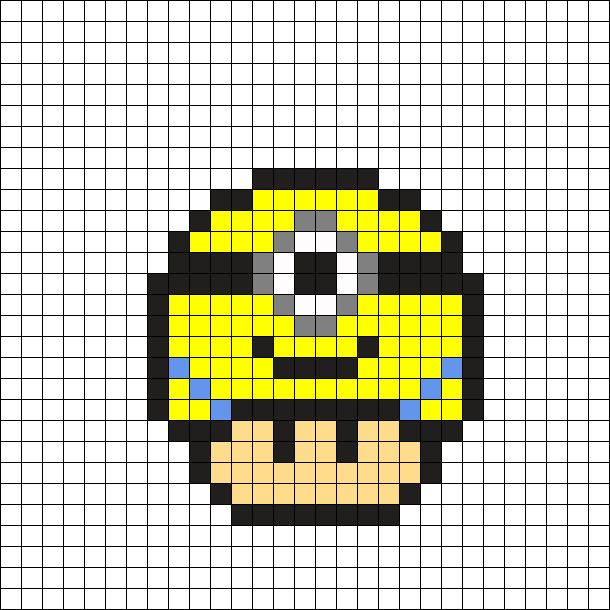 Minion Mushroom by Tashar_h on Kandi Patterns