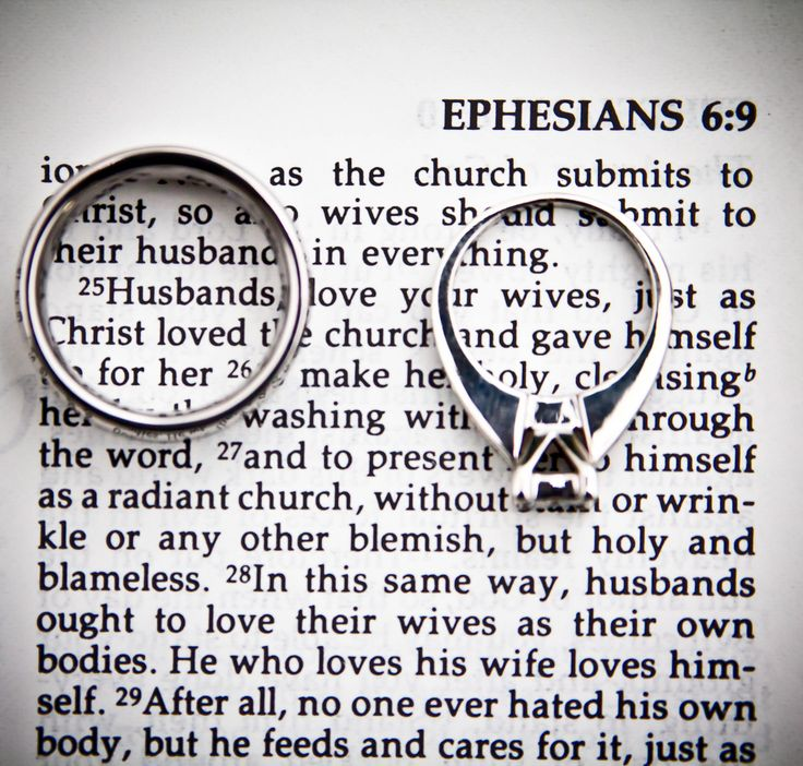 Clever! I would use a different Bible with a smaller font, so the rings could…