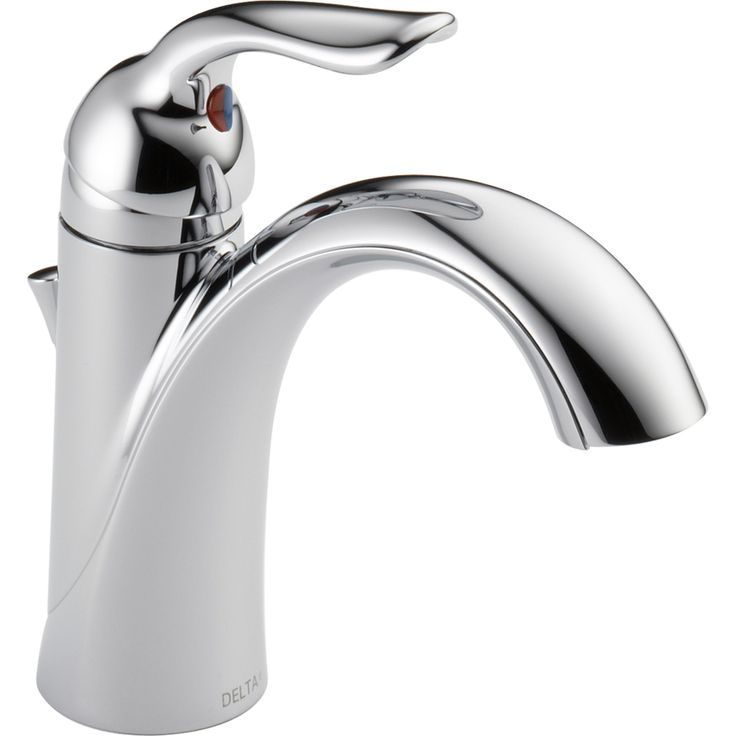 Delta Lahara Chrome 1-Handle Single Hole/4-in Centerset WaterSense Bathroom Faucet (Drain Included)