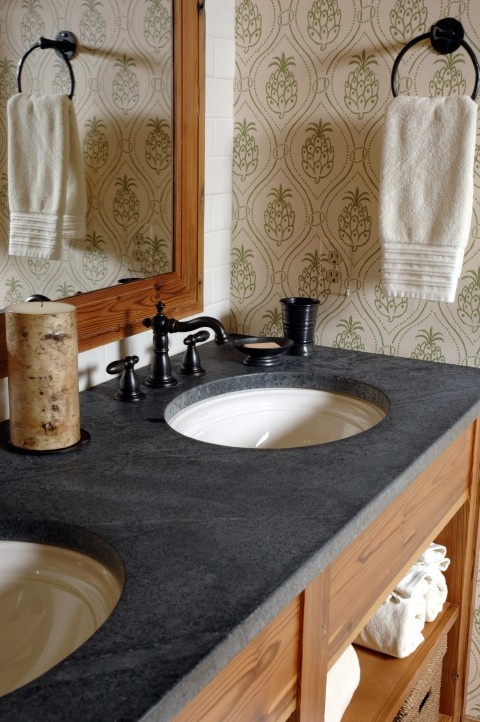 1000 images about black soapstone on pinterest - Black marble bathroom countertops ...