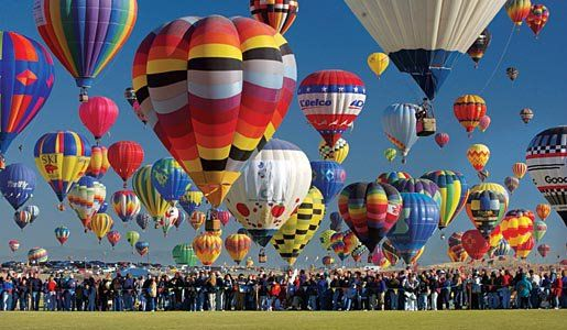 ALBUQUERQUE, NM, USA -- Officials with the 40th Albuquerque International Balloon Fiesta say independent counters reported 345 hot-air balloon took to the air in one hour - setting the new world record for the Most hot air balloons launched in one hour, according to World Records Academy (www.worldrecordsacademy.org).Balloons Fiestas, Buckets Lists, Hotair, Balloon Festival, Albuquerque, Places, Balloons Festivals, Hot Air Balloons, New Mexico
