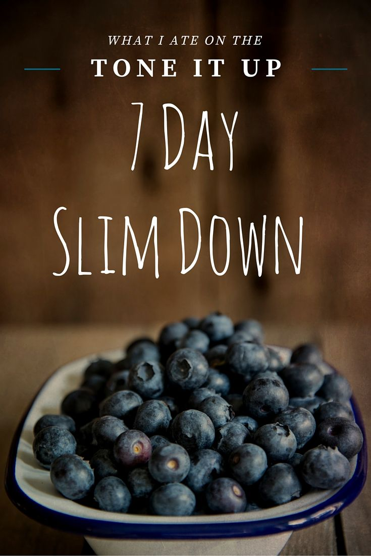 Thinking about trying  the Tone It Up nutrition plan? Here's what I ate on the 7 Day Slim Down Plan, complete with recipe ideas!