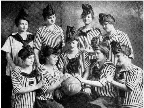 Женская баскетбольная команда. США. 1917г.