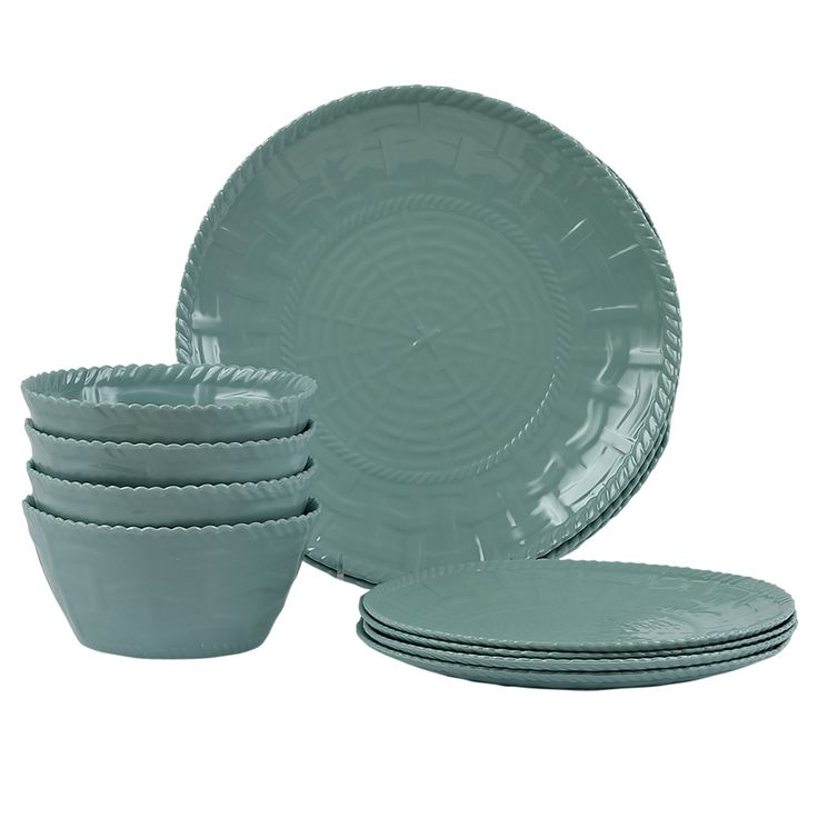 Amber 12-Piece Melamine Dinnerware Set