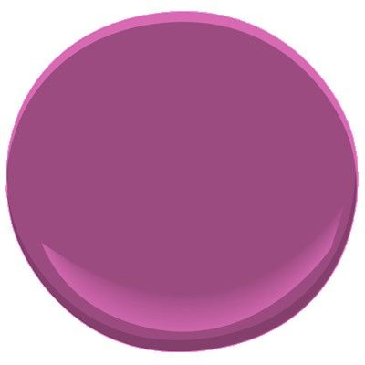 If you are looking for the color radiant orchid, Pantone 2014 color of the year, to paint a room or accent wall, try Benjamin Moore Twilight Magenta. My tv room is painted this color and it's really beautiful (Aura, matte finish). It looks fabulous paired with plum and brown.