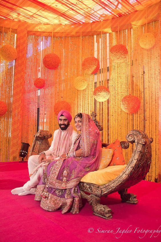 Buntes Traditionelles Blick Indische Hochzeits Buhnenbild Ideen