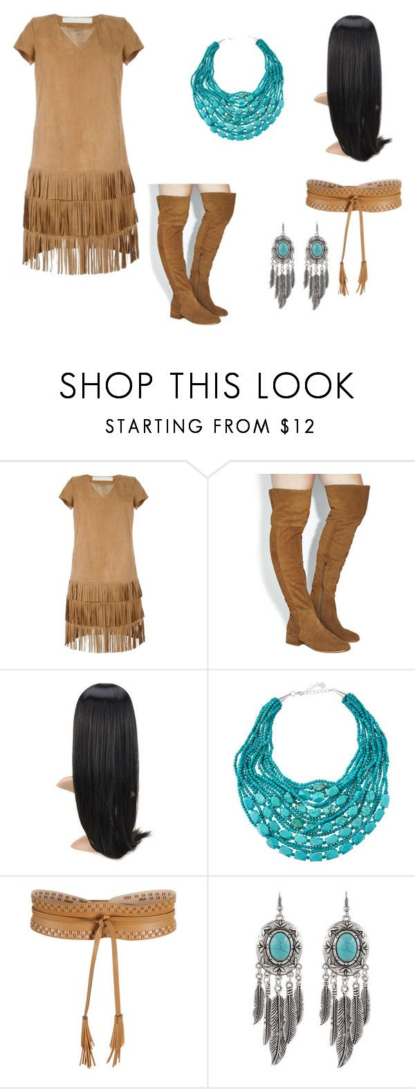 """Pocahontas Costume"" by oliviaf14 on Polyvore featuring Drome, Office, NAKAMOL and BCBGMAXAZRIA"