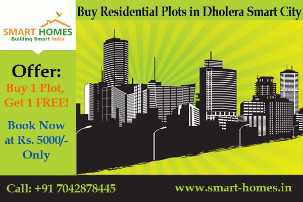 Book your plot in #Dholera Smart City @ Just Rs. 5000, Buy 1 Get 1 Plot FREE!!! http://bit.ly/1RODZzm