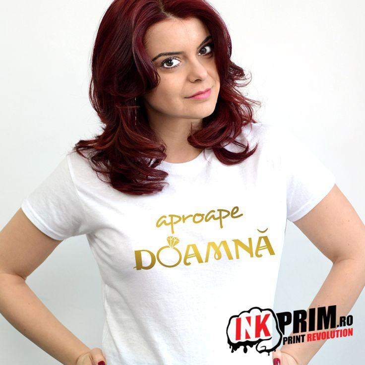Tricou Mireasa, Aproape Doamna - Personalizat pentru Petrecerea Burlacitelor
