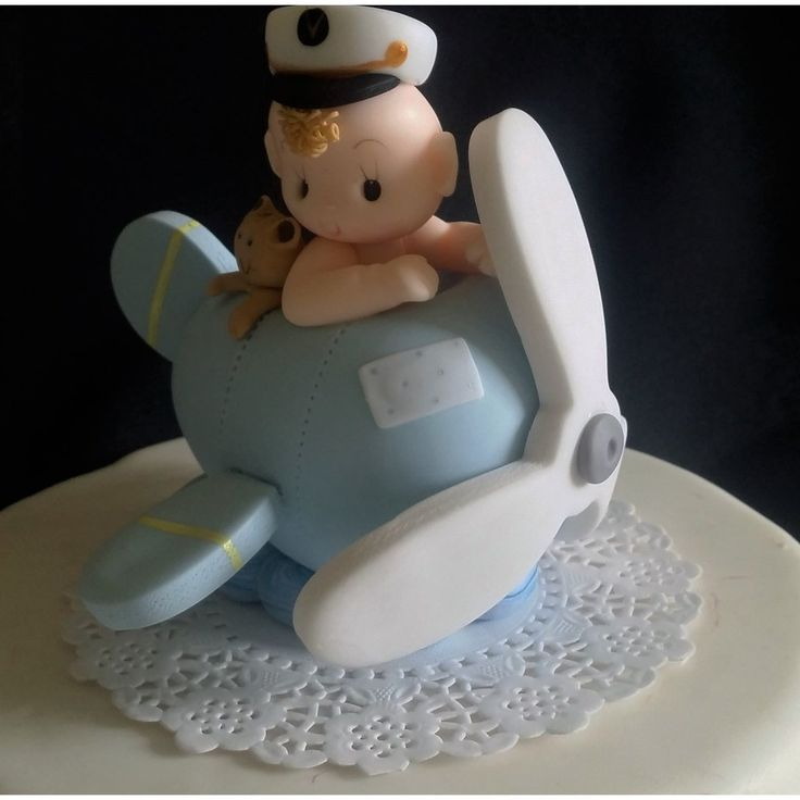 Baby on Airplane Cake Topper, Plane Cake Topper, Airplane Cake Topper, Airplane Baby Shower, Plane Birthday Party, Airplane Birthday Decorations - Cake Toppers Boutique  - 3