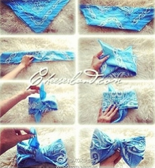How to make a bandana bow!