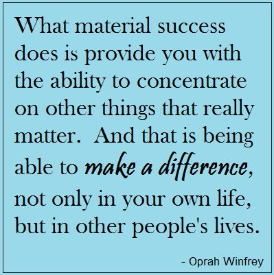 Trying to make a difference. It IS worth it.