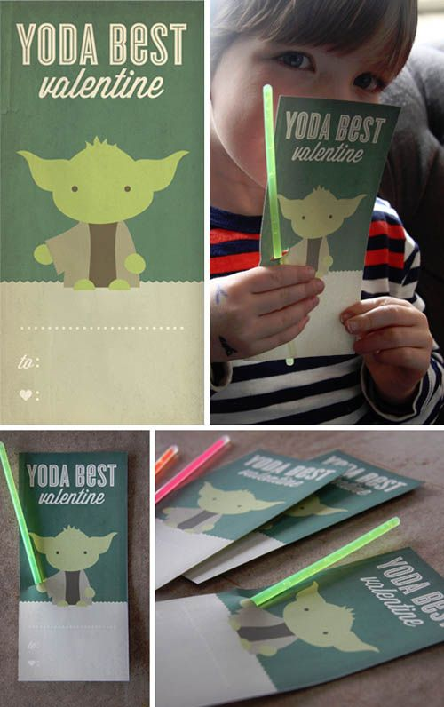 Yoda Best Valentine from Design. Wash. Rinse. Repeat {Valentine Roundup on OneCreativeMommy.com}