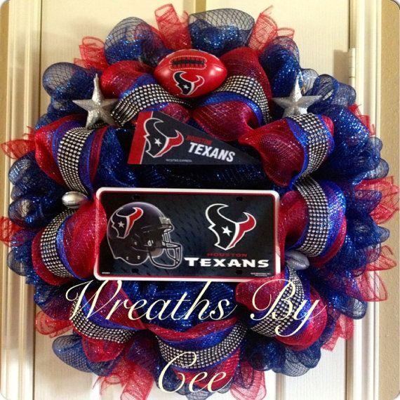 "Sale Houston Texans 22""-24"" Wreath -- Originally 125.00 on Etsy, $110.00"