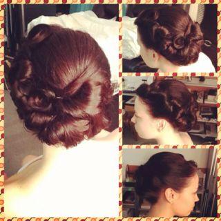 #highvoltagehair #paulmitchell #wedding #vintage #updo #hair #bridal