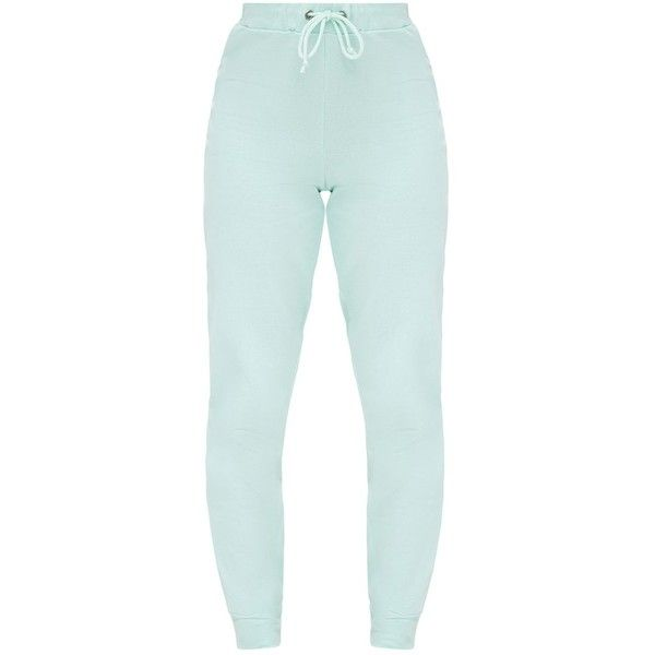 Petite Mint PLT Joggers ($36) ❤ liked on Polyvore featuring activewear, activewear pants, petite sportswear, petite activewear pants and petite activewear