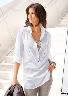 Удлиненная блуза рубашка купить