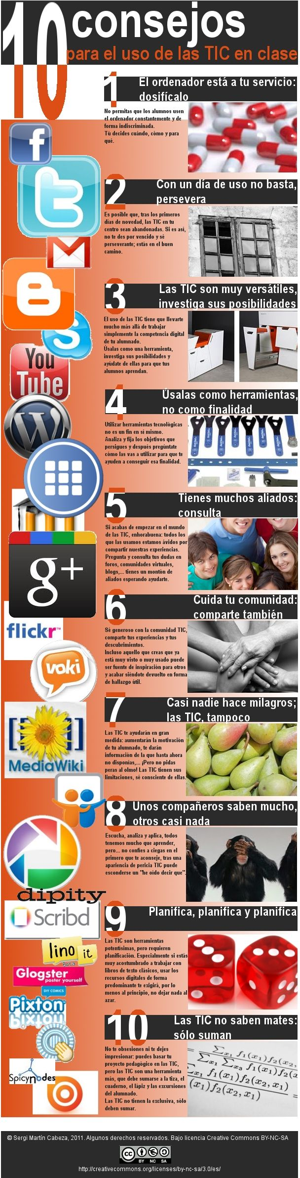 10 consejos para el uso de las TIC en clase #infografia #education
