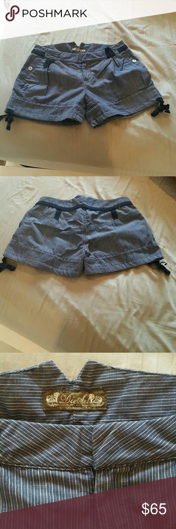 NWOT! Never worn Diesel jeans shorts! So cute, striped jeans shorts  adorable design! Diesel Shorts Bermudas