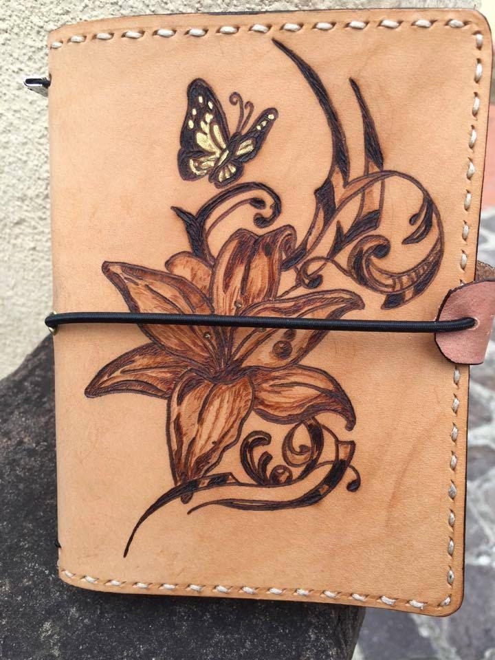 Traveler's Notebook - Midori - tema Farfalla Motivazionale - pelle al naturale - tutti i formati disponibili - 100% made in Italy di LorenzoDiniFirenze su Etsy