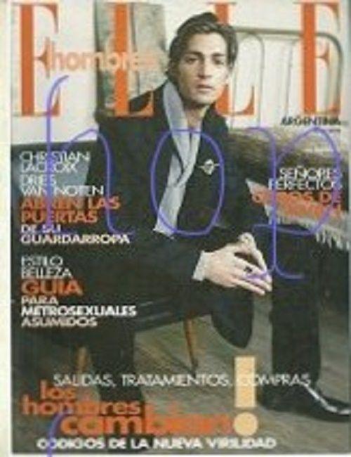 Maximiliano Patane ELLE Hombres Argentine  2002 Magazine Cover
