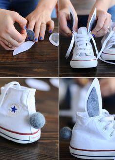 Bunny Shoes DIY