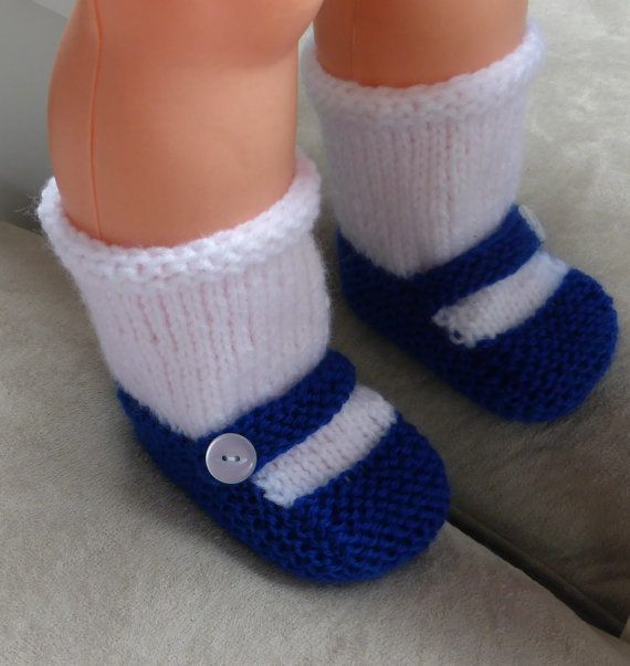 Knitting Pattern for Baby's Mary Jane style shoe with an attached sock - #ad Garter stitch baby shoes with stockinette sock. Pattern sizes: 0 (3-6-9) months. tba